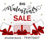 valentine's day sale offer ... | Shutterstock .eps vector #794970607