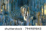3d rendering abstract mountains ...   Shutterstock . vector #794989843