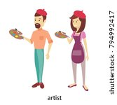 isolated artists couple with