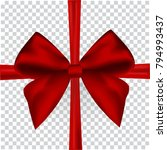 red bow for packing gifts....   Shutterstock .eps vector #794993437