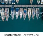 aerial view of sailboats and... | Shutterstock . vector #794995273