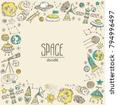 space background with space... | Shutterstock .eps vector #794996497