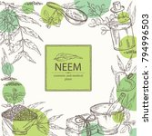 background with with neem ... | Shutterstock .eps vector #794996503