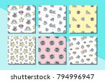 fashionable vector patches... | Shutterstock .eps vector #794996947