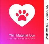 Dog Pawprint On A Heart Red An...