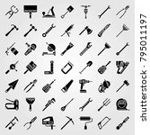 tools vector icons set.... | Shutterstock .eps vector #795011197