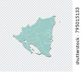 nicaragua map   high detailed... | Shutterstock .eps vector #795015133