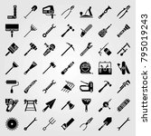 tools vector icons set. level ... | Shutterstock .eps vector #795019243