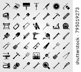 tools vector icons set. paint... | Shutterstock .eps vector #795019273