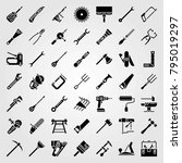 tools vector icons set. nail... | Shutterstock .eps vector #795019297