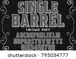 vintage font alphabet... | Shutterstock .eps vector #795034777