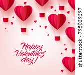 vector happy valentines day... | Shutterstock .eps vector #795039397