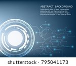 vector tech circle and... | Shutterstock .eps vector #795041173