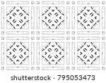 seamless black and white... | Shutterstock . vector #795053473