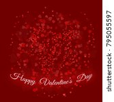 the inscription happy valentine'... | Shutterstock . vector #795055597