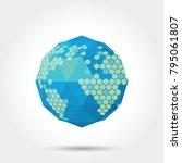 world map icon | Shutterstock .eps vector #795061807