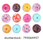 doughnuts on an isolated white... | Shutterstock . vector #795064957