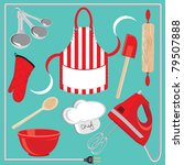 baking icons and elements. ... | Shutterstock .eps vector #79507888