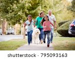 grandparents and granddaughters ... | Shutterstock . vector #795093163