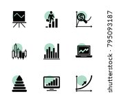 graph icons. vector collection...
