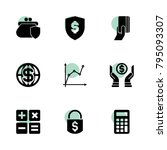 economy icons. vector... | Shutterstock .eps vector #795093307