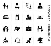 people icons. vector collection ... | Shutterstock .eps vector #795093373