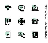 phone icons. vector collection...