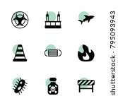 danger icons. vector collection ... | Shutterstock .eps vector #795093943