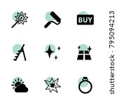 shiny icons. vector collection...
