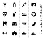 healthy icons. vector... | Shutterstock .eps vector #795094933