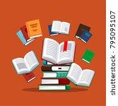 books. vector illustration in...   Shutterstock .eps vector #795095107