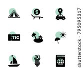 vacation icons. vector... | Shutterstock .eps vector #795095317