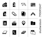 paper icons. vector collection...