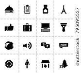 modern icons. vector collection ... | Shutterstock .eps vector #795095527