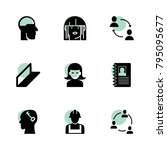 profile icons. vector... | Shutterstock .eps vector #795095677