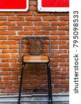 old wooden chair by vintage... | Shutterstock . vector #795098533