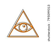 all seeing eye pyramid symbol.... | Shutterstock .eps vector #795099313