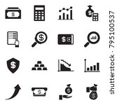 solid black vector icon set  ... | Shutterstock .eps vector #795100537
