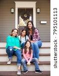 female multi generation family... | Shutterstock . vector #795101113