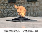 eternal flame on the monument... | Shutterstock . vector #795106813