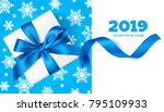 happy new year 2019. decorative ... | Shutterstock .eps vector #795109933