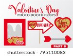 set of valentine's day... | Shutterstock .eps vector #795110083