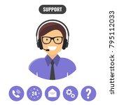 customer support service... | Shutterstock .eps vector #795112033