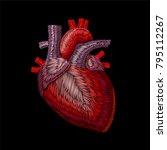 embroidery crewel human... | Shutterstock .eps vector #795112267