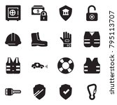 solid black vector icon set  ... | Shutterstock .eps vector #795113707