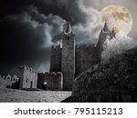 mysterious medieval castle in a ... | Shutterstock . vector #795115213