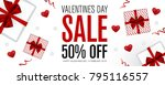 valentines day sale background. ... | Shutterstock .eps vector #795116557