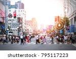 big data   iot   internet of... | Shutterstock . vector #795117223