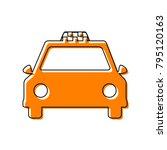 taxi sign illustration. vector. ...   Shutterstock .eps vector #795120163
