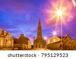 elgin. sunrise in scottish city....   Shutterstock . vector #795129523